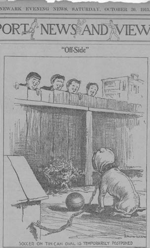 1915 Cartoon Off-Side