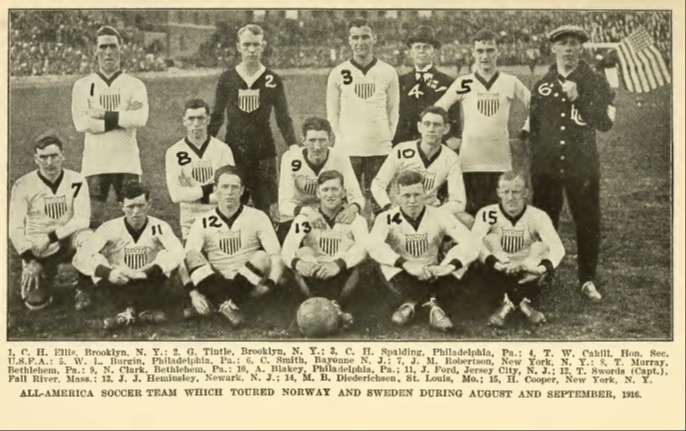 The All-American team in Scandinavia in 1916