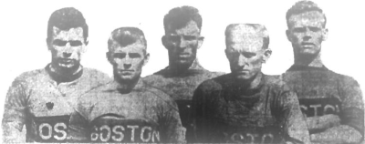 Boston Wonder Workers stars including Ballantyne, McNab, McArthur, former Bethlehem Steel player Fleming, and McMilan. (Photo: Courtesy of the Providence Journal)