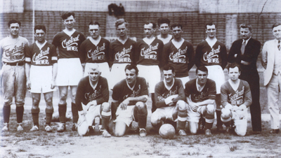 Central Brewers, 1934-35. McNab, Gonsalves, and Patenaude are in the front row. (Photo: Courtesy of David Lange.)