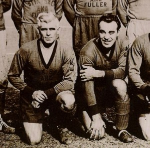 Billy Gonsalves (right) with his long-time mentor and teammate Alex McNab (Photo: Courtesy of Louisa H. Bowen University Archives, SIU-Edwardsville)