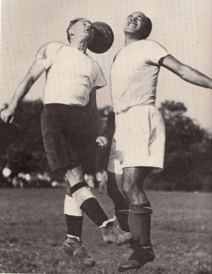 Gonsalves (right) in action. (Photo: Courtesy of the Billy Gonsalves Collection)
