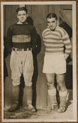 A young Gonsalves in the green-and-white hoops of Fall River, alongside Marksmen goalkeeper Johnny Reder. Reder, incidentally, spent one off-season as a first baseman for the Boston Red Sox (Photo: Courtesy of Soccer Archives)