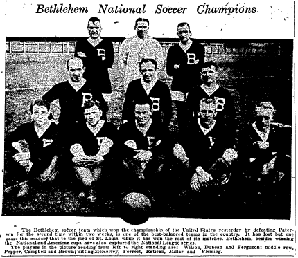 From the Philadelphia Inquirer, April 27, 1919 after winning the American Cup for the fourth year in a row.