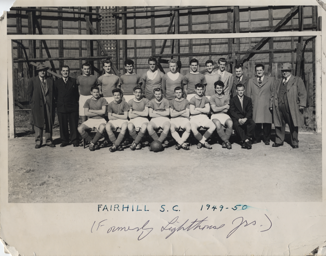 Fairhill SC at Holmes Stadium 1949-50