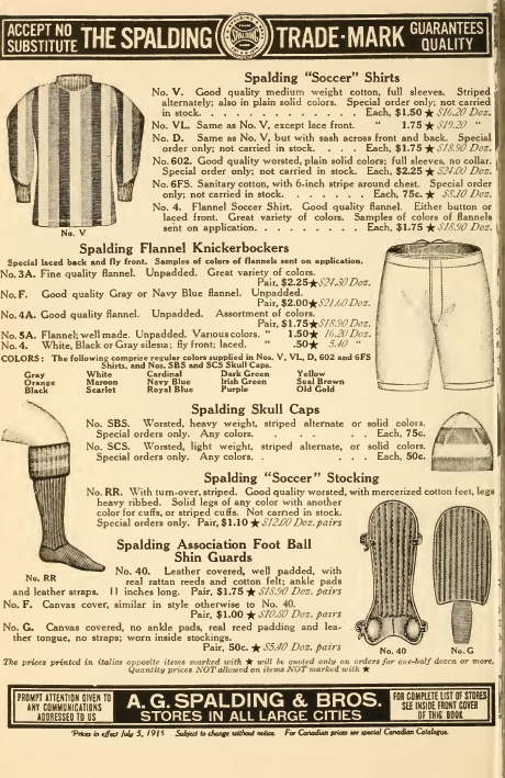 Spalding ad 1915-16