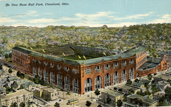 The New Base Ball Park by Braun Post Card Co - Cleveland Memory Project. Licensed under Public Domain via Wikimedia Commons