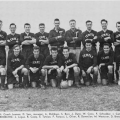 The 1953 Temple team. Oliver is front row, fifth from the left