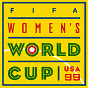 1999 Women's World Cup primary logo. Source: Wikipedia.