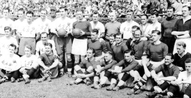 Liverpool with ASL All-Stars in 1946. Photo courtesy of http://lfctour2012.liverpoolfc.com/news/how-usa-helped-us-win-the-league