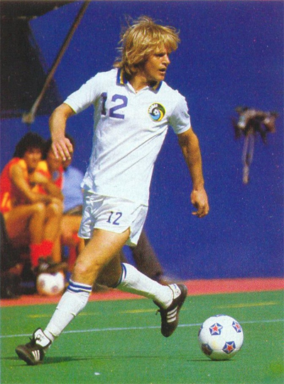 Moyers with the Cosmos in 1982. Photo courtesy of NASLjerseys.com