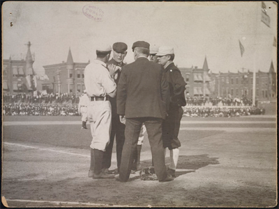 View from home plate at Columbia Ball Park from the 1905 World Series.