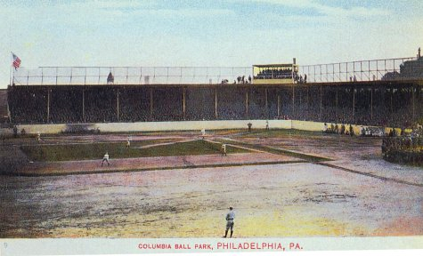 Undated colorized view of Columbia Ball Park