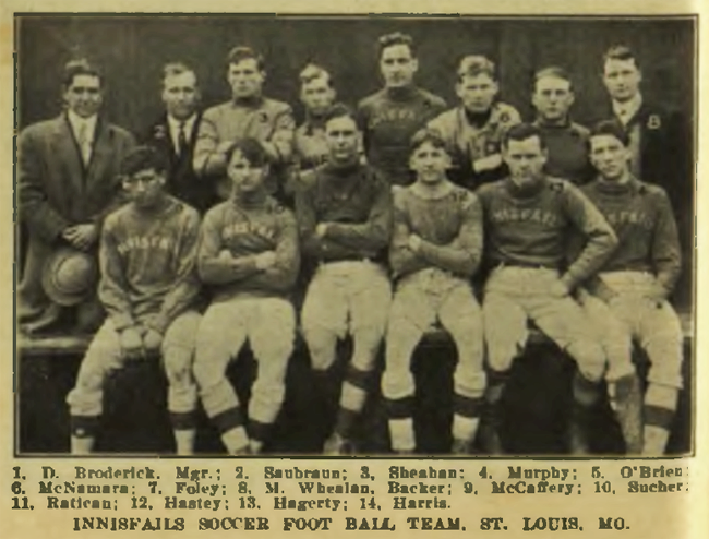 Innisfails in 1911. From the Spalding Guide for Association Football.