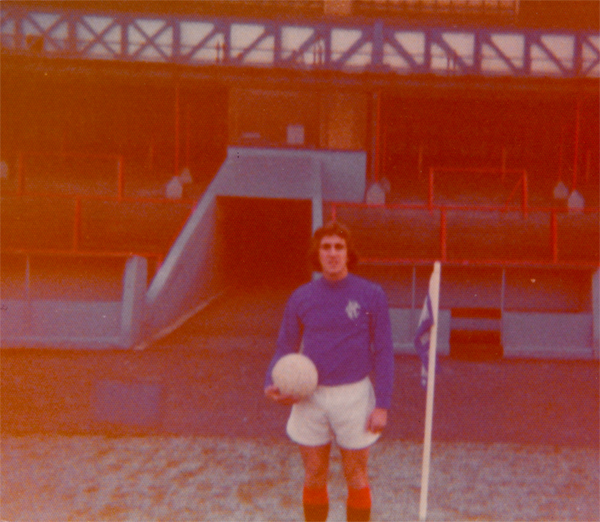 Hugh O'Neill at Ibrox Stadium, 1976. (Photo: Personal Collection of Hugh O'Neill)