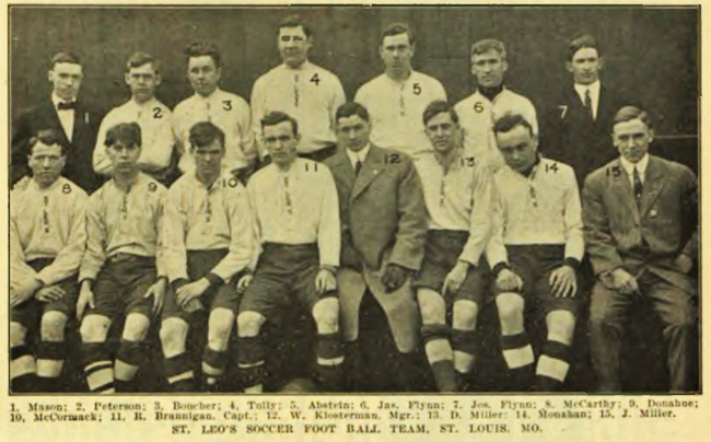 St Leos in 1911. From the Spalding Official Soccer Football Guide 1911.