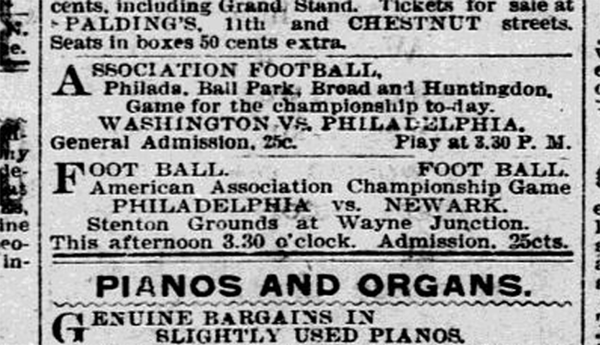 Philadelphia and the other first professional soccer league in the U.S.