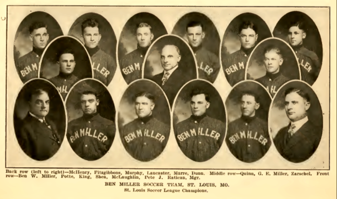 St. Louis' Ben Millers. From the 1917-1918 Spalding Guide
