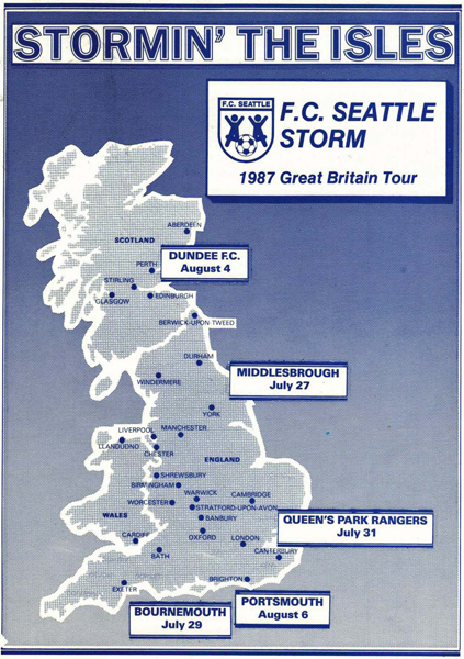 FC Seattle 1987 UK tour