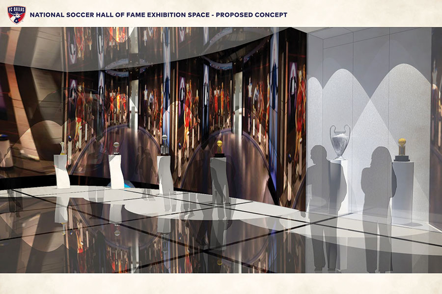 NSHOF Frisco interior rendering