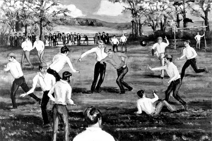 Rutgers-Princeton football game of 1869, by William Boyd, Courtesy of Special Collections and University Archives, Rutgers University Libraries
