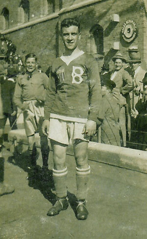Archie Stark as a guest player on Bethlehem Steel FC's 1919 Scandinavian tour.
