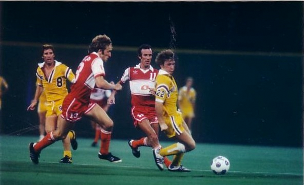 Photo: Alan Ball (No. 8) and Tony Glavin (No. 22) with the Fury in 1978. Courtesy of NASLjerseys.com