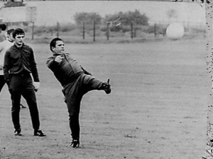 Puskas showing off his famed left foot while managing Panathinaikos Courtesy of Nationaal Archief Fotocollectie Anefo