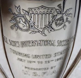 Detail of the trophy presented to the All-Scots by the USFA on July Image via gottfriedfuchs.blogspot.com