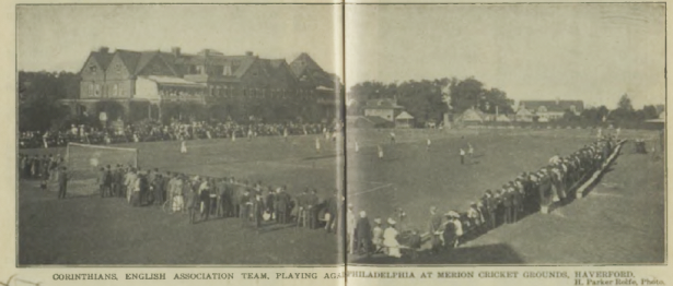 Corinthians against All Cricket Club XI at Merion Cricket Club, August 31, 1906. Photo courtesy of Rob Cavillini.