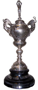 Sir Thomas Lipton Trophy, made of solid sterling silver, stands nearly three feet and was crafted 90 years ago.