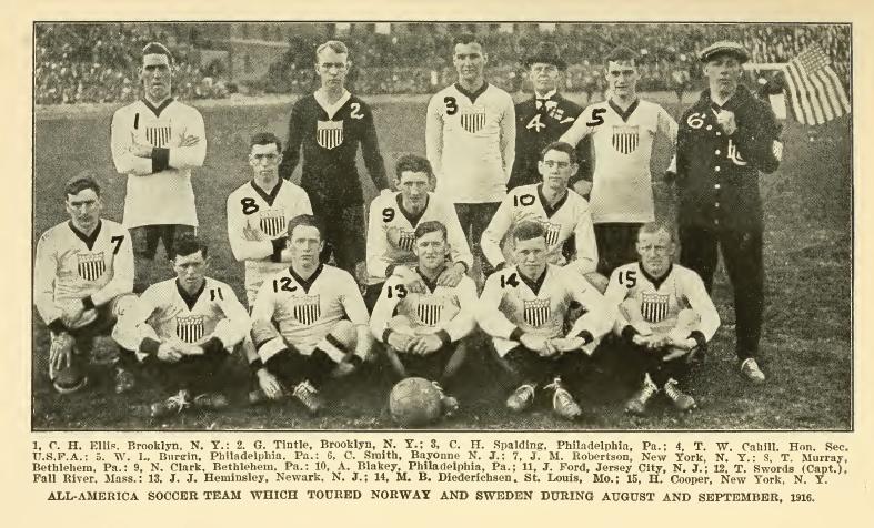 USMNT in Sweden, August 1916