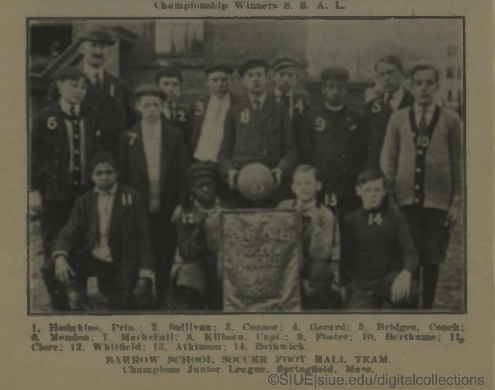 Photo of school boy soccer team