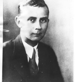 Undated press photo of Elmer A. Schroeder. From the author's collection.
